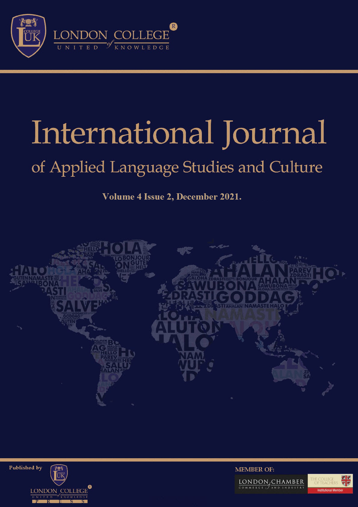 THE INTERNATIONAL JOURNAL OF APPLIED LANGUAGE AND CULTURAL STUDIESTHE INTERNATIONAL JOURNAL OF APPLIED LANGUAGE STUDIES AND CULTURE (IJALSC)