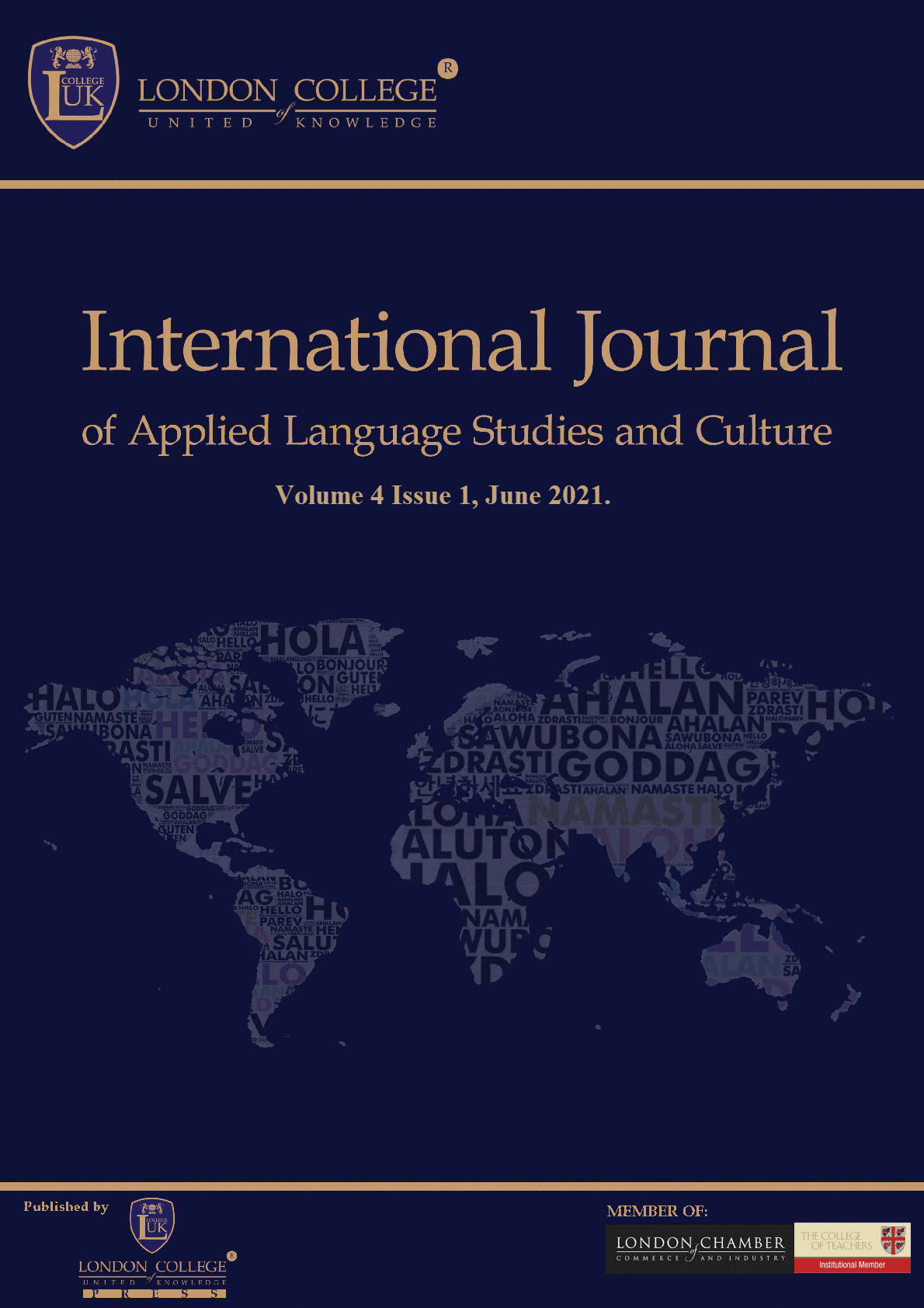 THE INTERNATIONAL JOURNAL OF APPLIED LANGUAGE STUDIES AND CULTURE (IJALSC)